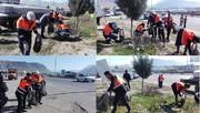 پاکسازی حریم راه، ورودی شهرهای لرستان با همت راهداران