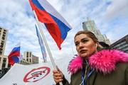 تظاهرات در مسکو علیه قانون «پرده آهنین اینترنت»