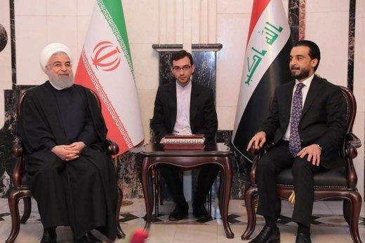 روحانی والحلبوسی یؤكدان علي تعزیز العلاقات بین ایران والعراق