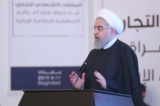 روحاني: التعاون الاقتصادي بين ايران والعراق يخدم مصلحة الشعبين والمنطقة