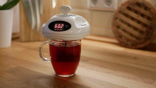دستگاهی که چای و قهوه را لبسوز نگه میدارد