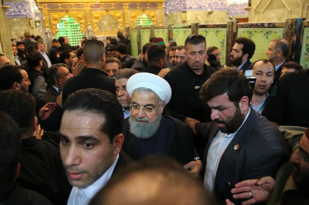 Pres. Rouhani arrives in Karbala