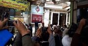 عکس | لحظه خروج روحانی از بیت آیتالله سیستانی