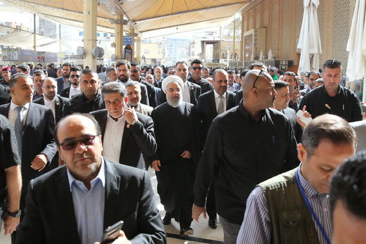 Iran's president visits holy shrines in Iraq's Najaf