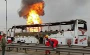 تصاویر | خودروهایی که در انفجار خط لوله گاز اهواز سوختند (۱۶+)