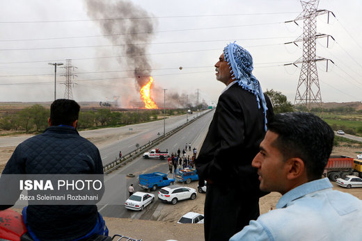 انفجار در خط لوله گاز اهواز به ماهشهر