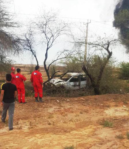 خودروهایی که در انفجار خط لوله اهواز-ماهشهر سوختند
