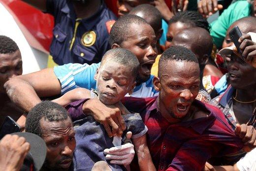 ریزش ساختمان مدرسه در نیجریه