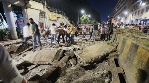 پل عابر پیاده در بمبئی سقوط کرد ۴۰ نفر کشته و مجروح شدند