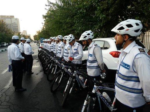 حضور پلیس دوچرخهسوار در ۴ منطقه پایتخت/ عکس