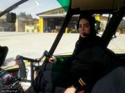 پرواز اولین زن خلبان هلکوپتر در ایران