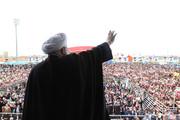 تصاویر | روحانی در جمع مردم بوشهر