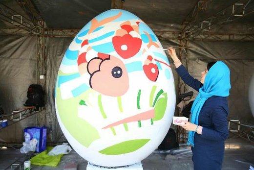 آغاز فعالیت کارگاه رنگآمیزی تخم مرغهای رنگی نوروز در پارک قدس رشت/ تصاویر