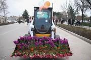 تصاویر   حرکت جالب بجنوردیها برای استقبال از بهار