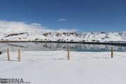 تصاویر | تخت سلیمان زیر برف رفت
