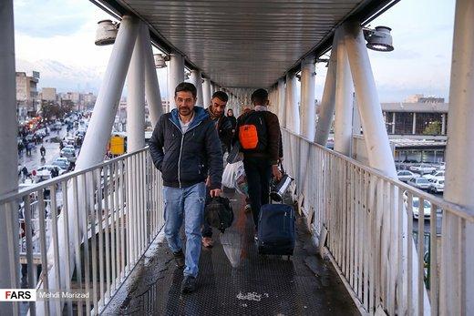 مسافران نوروزی پایانه جنوب