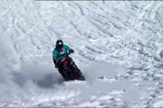 فیلم | مسابقه ۱۴۰ هارلیدیویدسن در کوههای برفی ایتالیا