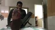 اولین فیلم منتشر شده از سربازی که در چهارشنبهسوری امسال مجروح شد
