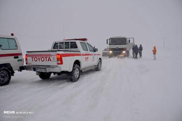 امدادرسانی به هموطنان گرفتار برف و کولاک در ۴ استان