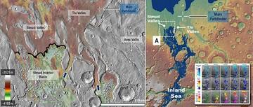 دریای قدیمی در مریخ/ عکس