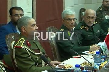 فیلم   نشست فرماندهان نظامی سوریه، ایران و عراق در دمشق
