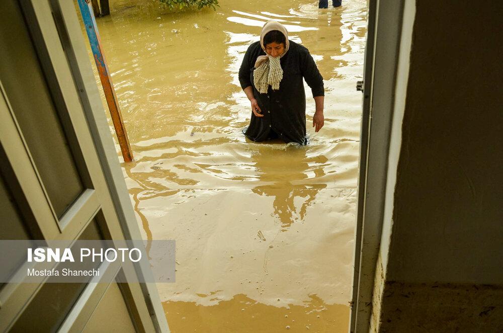 تصاویر   سیلی که شب عید، خانه مازندرانیها را زیر آب برد