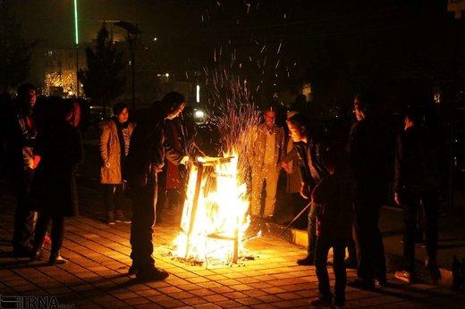 چهارشنبه سوری در بروجرد