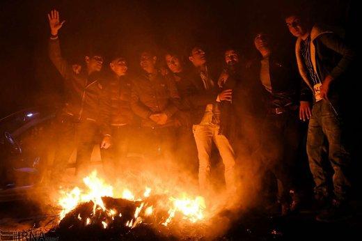 چهارشنبه سوری در سمیرم اصفهان