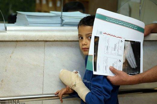 مصدومان چهارشنبه سوری در بیمارستان شهید مطهری تهران