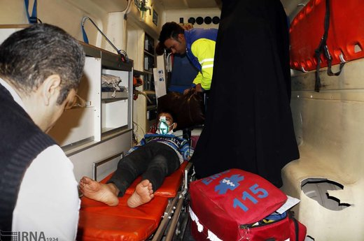 مصدومان چهارشنبه سوری در رنجان