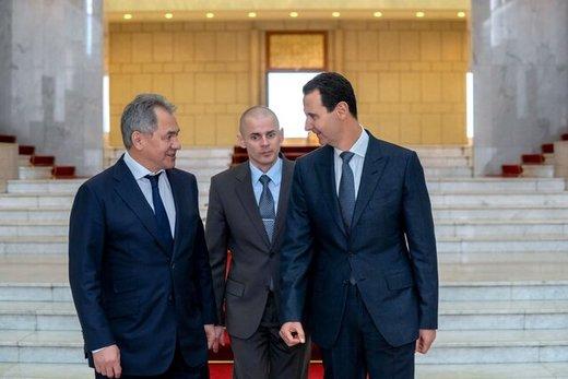 وزیر دفاع روسیه پیام پوتین را به اسد داد