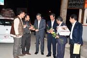 استقبال شهردار، رئیس شورای شهر و کارکنان شهرداری یاسوج از اولین مسافر نوروزی
