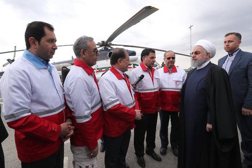 بازدید سرزده رئیسجمهور از ایستگاه سلامت اورژانس در بزرگراه تهران-کرج، پایگاه امداد و نجات جاده ای چیتگر و پایگاه راهور جاده ای
