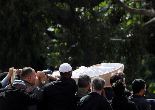 تشییع پیکر یکی از قربانیان حمله به مساجد در کرایستچرچ نیوزیلند