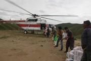 پرواز ۵ بالگرد هلال احمر برای رساندن اقلام امدادی به سیلزدگان گلستانی