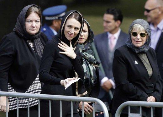 جاسیندا آردرن، نخست وزیر نیوزیلند در نمازجمعه
