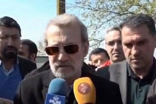 فیلم | لاریجانی: اهالی آققلا به هشدارهای ترک منزل توجه کنند