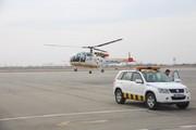 استقرار نخستین بالگرد اورژانس هوایی در فرودگاه ارومیه