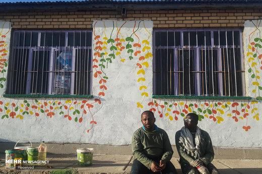 اردوی جهادی طلبه های خارجی در روستای سرفاریاب