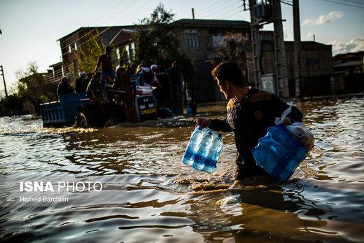 امدادرسانی به مناطق سیلزده استان گلستان