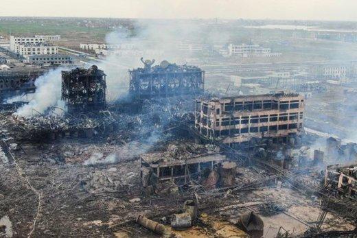 فیلم | ویرانههایی که از آتشسوزی هولناک کارخانه چینی به جا ماند