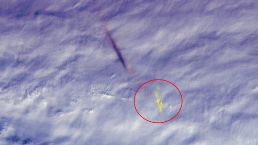 تصویر دیده نشده از شهابسنگی باقدرت انفجاری  ۱۰ برابر بمب هیروشیما
