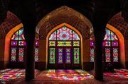 تصاویر | بازی نور و رنگ در مسجد نصیرالملک