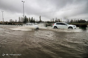 تصاویر | بارش شدید باران و آبگرفتگی معابر در ابهر