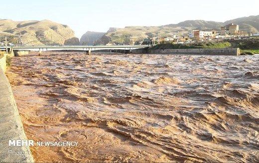 شهردار پلدختر: ساکنان حاشیه رودخانه کشکان منازل خود را ترک کنند