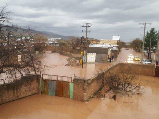 آبگرفتگی شدید روستای دارایی خرم آباد