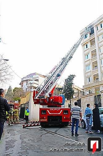 آتش سوزی در مجتمع مسکونی