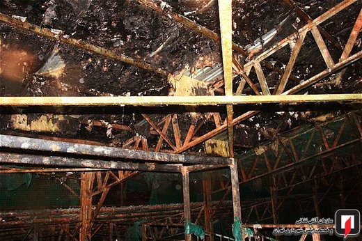 آتش سوزی سوله پینت بال ورزشگاه انقلاب