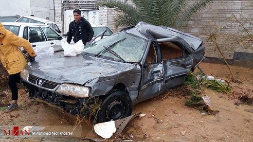 خسارات سیل در شیراز