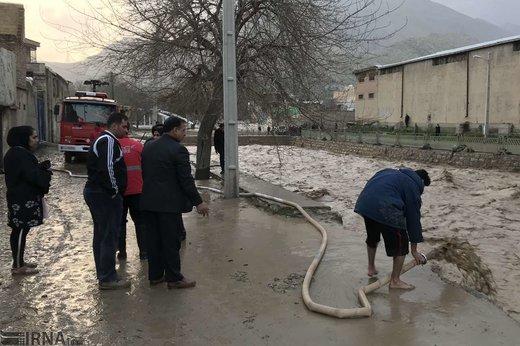 خسارات سیلاب در خرمآباد
